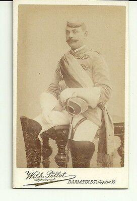 1 CDV Student Darmstadt ca. 1895 Paukant 6x11 cm