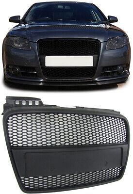 Sport Kühlergrill Waben Grill schwarz für Audi A4 B7 04-07 + Cabrio
