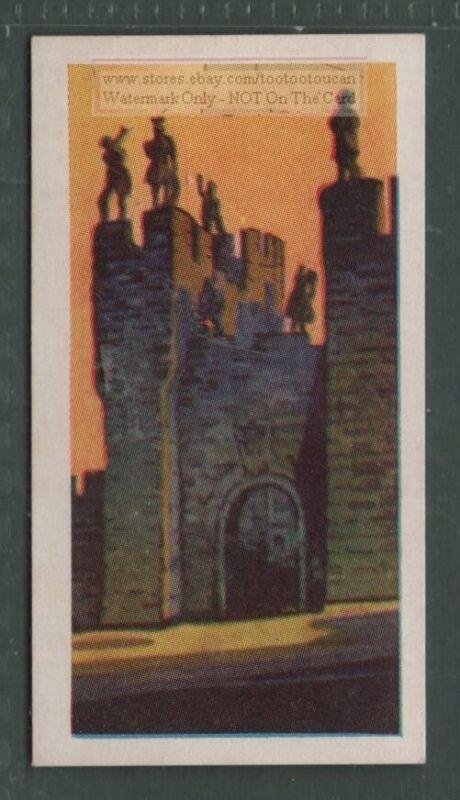 Alnwick Castle Northumberland England  Vintage Trade  Ad Card