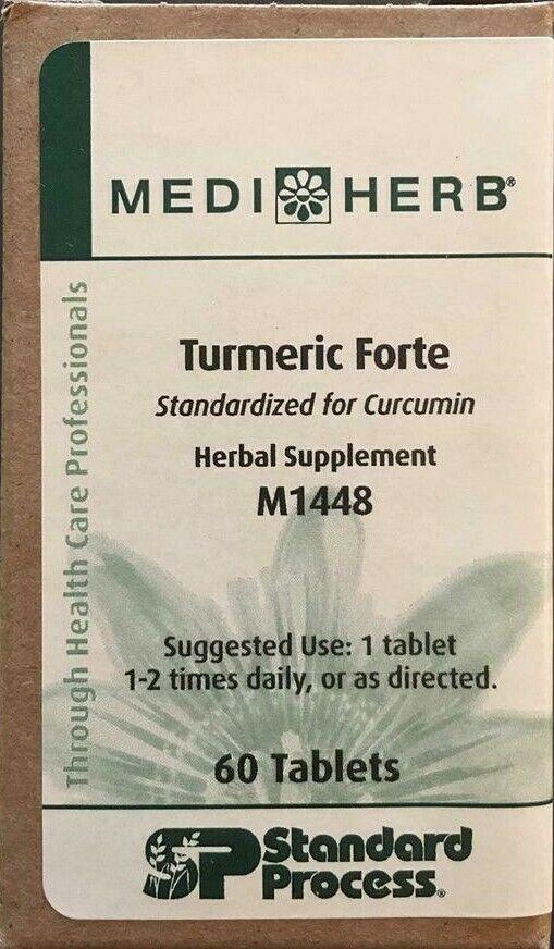 Standard Process (MediHerb) Turmeric Forte 60T * Exp 07/21 * SHIP IN 24 HRS FREE