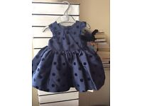 Baby party dresses (mamas&papas, M&S, mothercare new baby/ 0-3 months (two never worn, 1 worn once)