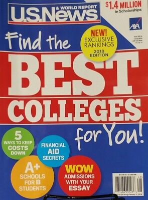 US News & World Report 2018 Guide Best College For You FREE Priority