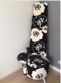 High Back Floral Potenza Chair