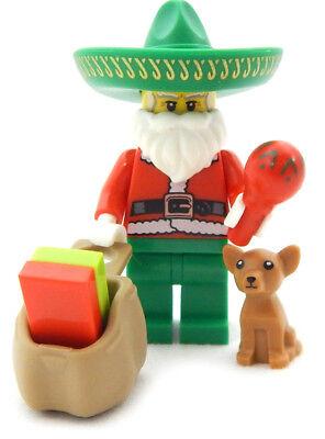 Chihuahua Santa - NEW LEGO MARIACHI SANTA CLAUS with Chihuahua minifigure figure minifig christmas