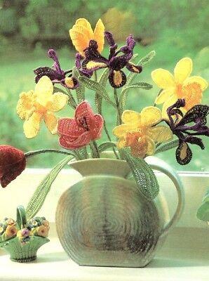 - Everlasting Flowers Tulip Daffodil Iris Cavendish Crochet PATTERN Leaflet NEW