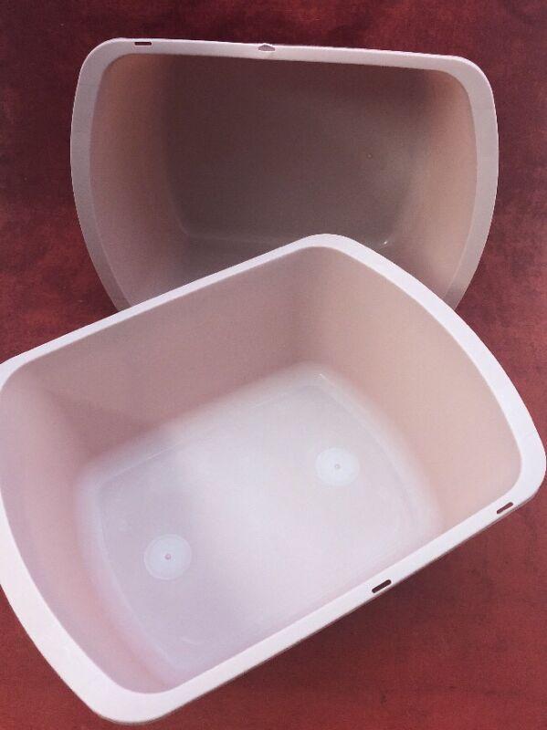 New Lot Of 10 Vollrath Plastic Wash Basin Rose Color Rectangular 7qt. H362-10