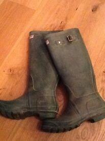 HUNTER BOOTS, CLASSIC GREEN, UK 6, £20.