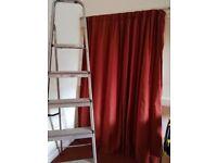 1 ?door curtain deep red 6ft width, 6ft drop