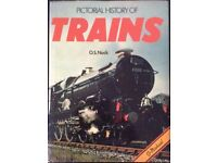 RAILWAY BOOK. PICTORIAL HISTORY OF TRAINS BY O S NOCK FOR SALE
