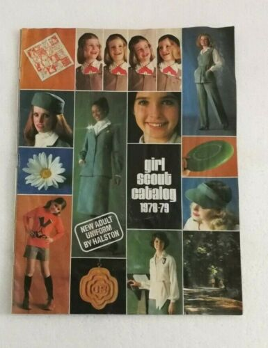Girl Scout Catalog 1970s Official 1978-79 Jewelry Uniforms Camping Brownie Badge