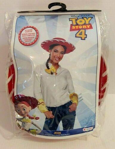 Disney Pixar Toy Story 4 Jessie Costume 14+ Size Small Hat Hairbow & Gauntlet