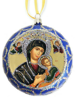 Religious Christmas Tree Ornament Byzantine Icon Virgin Mary Perpetual Help gift ()