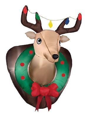 Deerhead Mounted Deer Head Wall Hanging ReinDeer Christmas Self-Inflates app - Inflatable Deer Head