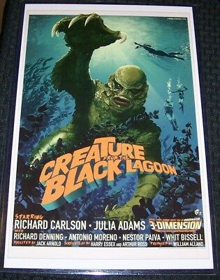 The Creature from the Black Lagoon Euro 11X17 Universal Movie Poster