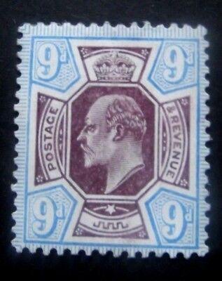 GB-1911-SG307-Edward VII 9d Purple & Blue issue-MH Good gum