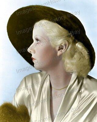 8x10 Print Jean Harlow Beautiful Colorized Portrait #JH768