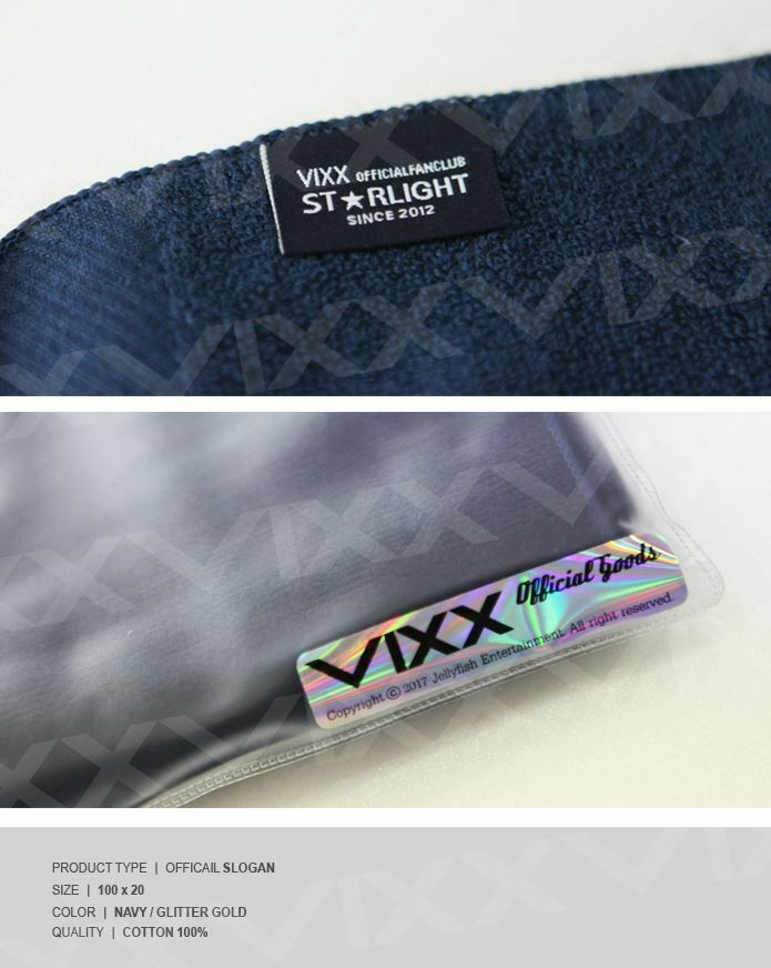 New VIXX OFFICIAL GOODS OFFICIAL SLOGAN TOWEL Ver 1
