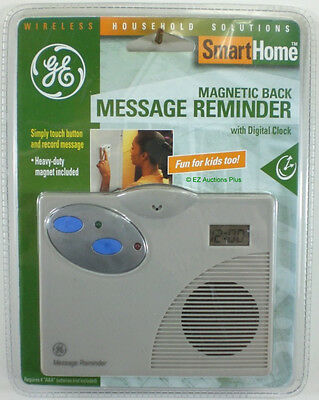 GE Magnetic Back Message Recorder & LED Flashing Light Reminder W/ Digital Clock - Ge Digital Recorder