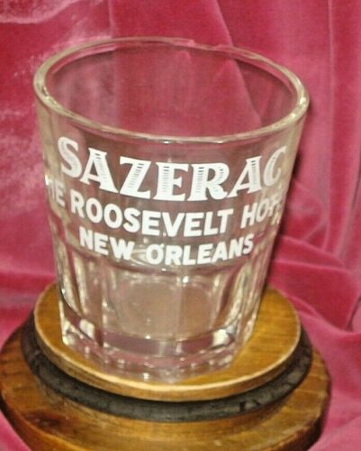 Roosevelt Hotel Sazerac Bar Glass Chips Vtg New Orleans La
