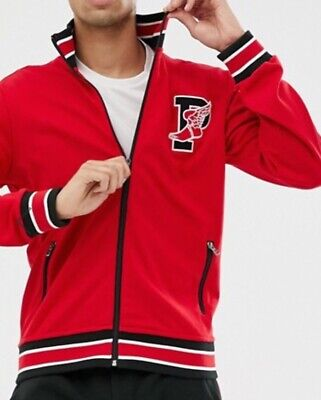 $148 New Polo Ralph Lauren P Wing Track Jacket Classic Red Full  Zip Sz L