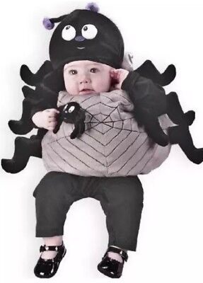 SPIDER Halloween costume plush black gray up to 24M infant baby Fun - Spider Baby Costume