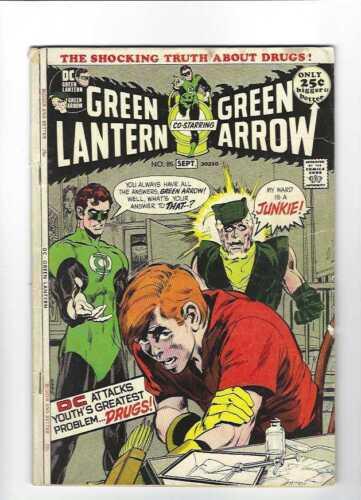 Green Lantern #85 Speedy on Heroin Drug Issue, 5.5 FN-, 1972 DC
