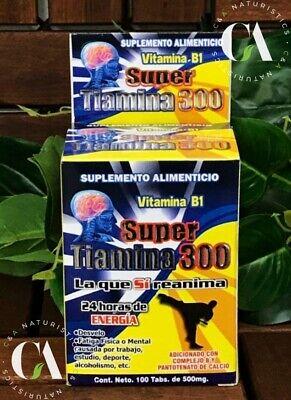 Super Tiamina 300 *VitaminaB1* 24 Horas de Energia 100%Orignal *Cont.100 Tabs*