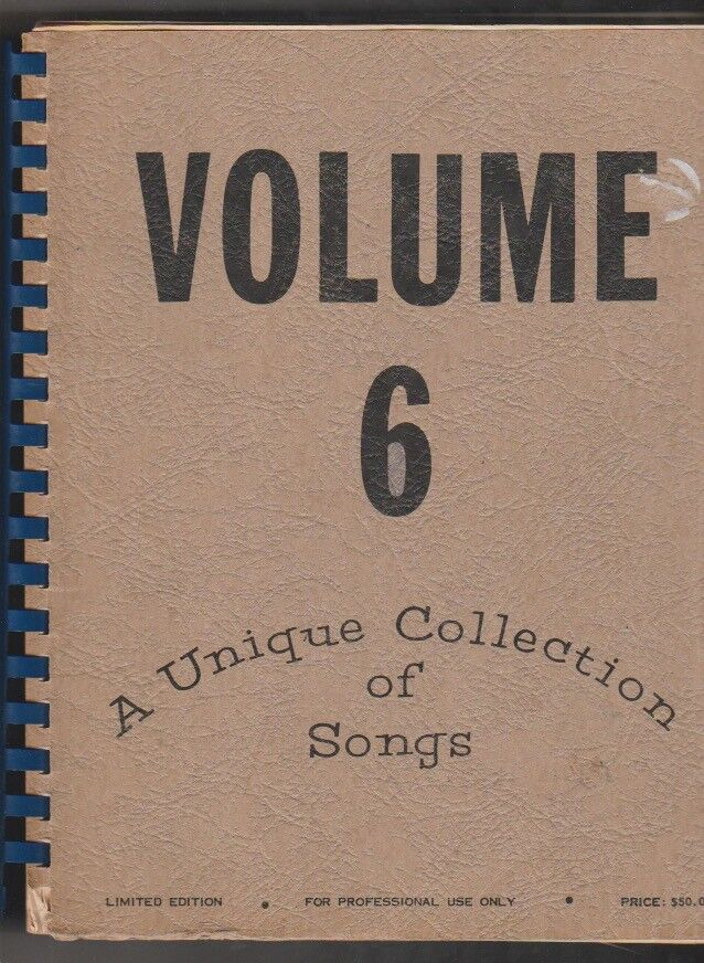 Volume 6 Collection Of Songs Limited Edition For Professional Use Show Tunes - $17.95