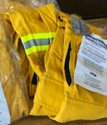Yellow Nomex Pants Fireline Pgi Wildland Forestry Brush Firefighting Size S-r