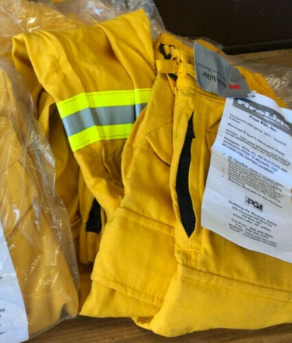Yellow Nomex Pants FIRELINE PGI Wildland, Forestry, Brush Firefighting Size S-R