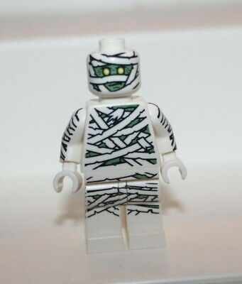 Nice Lego Monster Fighters MUMMY MINIFIG - Halloween White Gray Zombie Head 9462