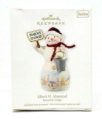 RARE NEW 2012 HALLMARK ALBERT H ALMSTEAD SNOWTOP LODGE #8 CHRISTMAS ORNAMENT WOW