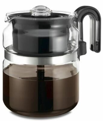 Best Glass Stovetop Percolator Coffee Pot Maker 8 Cup Thermal Stove Top
