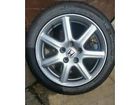 Alloy wheel and tyre for honda civic/accord