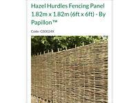 Free to collect hazel hurdle fencing