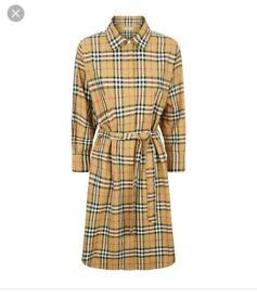 Burberry Check Shirt Dress size 6