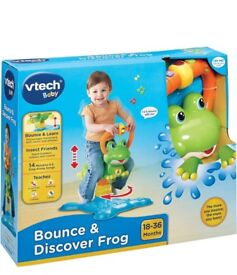V tech bouncy and discover frog brand new in box