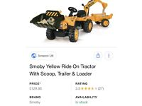 Smoby ride on tractor