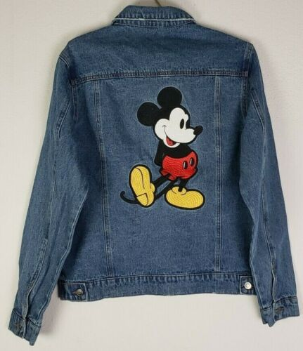 NEW! Disney Embroidered Mickey Mouse Blue Jean Jacket UNISEX Size M