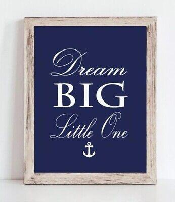 Navy Blue Boy Nautical Nursery Print, Baby Boy Whale Nursery Decor 8x10
