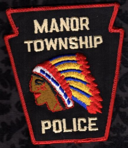 Manor Township Pennsylvania Police Shoulder Patch  uniform Shirt Removed