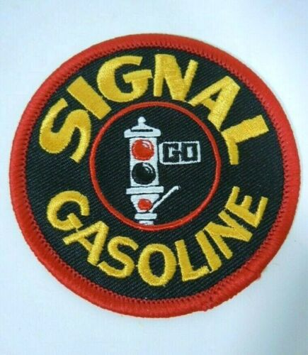 SIGNAL GASOLINE  Embroidered Iron On Uniform-Jacket Patch 3""