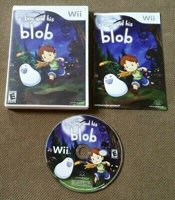 David Crane's A Boy and His Blob: Trouble on Blobolonia (Nintendo Wii) VERY GOOD