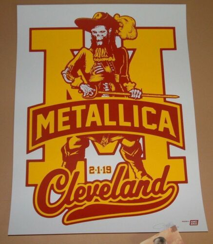 Metallica Ames Bros Cleveland Poster Print Signed Numbered Art Artist Proof 2019 - $199.99