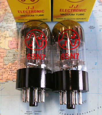 2 Stk Matched pair JJ 6SN7 Dual Trioden NEW Selektiertes Paar 6SN7GT Röhren NEU