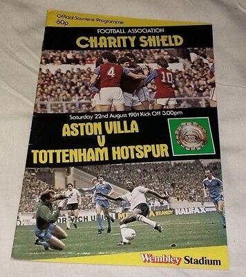 ASTON VILLA V TOTTENHAM Charity Shield Sat. 22nd August 1981 PROGRAMME