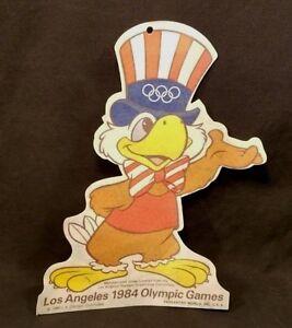 1984 LOS ANGELES OLYMPICS SAM THE EAGLE WALL FELT BANNER HANGER PENNANT