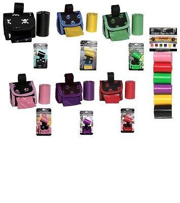 DOGGIE WALK Designer Dispenser + 30 bags - Refill - 60 ct to 90 ct - all colors  ()