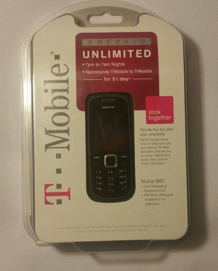 Nokia 1661 - Black  T-Mobile  Cell  Phone  BRAND NEW SEALED
