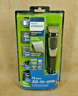 PHILIPS Norelco Multigroom 3000 13 Piece All in One Trimmer MG3750/60